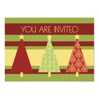 "Christmas Trees Christmas Dinner Invitation Card 5"" X 7"" Invitation Card"