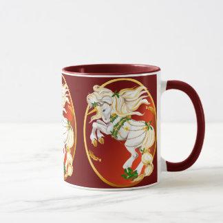 Christmas Unicorn Oval  Mugs
