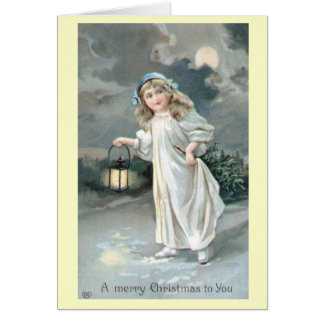 Christmas Vintage Victorian Greeting Card