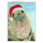 Christmas Walrus Greeting Card