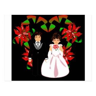 Christmas Wedding Couple Customizable Postcard
