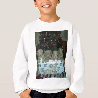 Christmas Weimaraner Puppies Sweatshirt