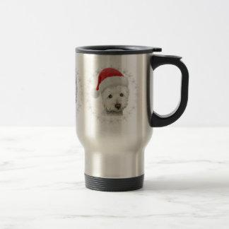 Christmas Westie Dog Art Mug