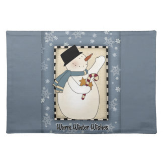 Christmas Winter Snowman Wishes Placemat