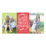 Christmas Wishes Collection Photo Greeting Card