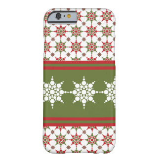 Christmas Wrapper Paper Snowflake Pattern Design Barely There iPhone 6 Case