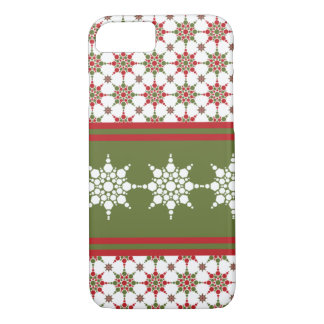 Christmas Wrapper Paper Snowflake Pattern Design iPhone 7 Case