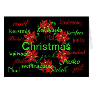 Christmas Wreath Around The World Card