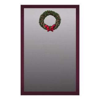 Christmas Wreath Customised Stationery