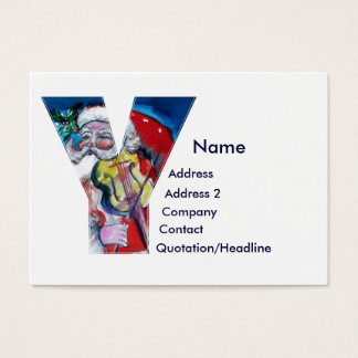 Letter y santa gifts t shirts art posters other gift ideas christmas y letter santa with violin monogram business card spiritdancerdesigns Image collections
