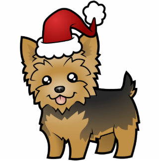 Christmas Yorkshire Terrier (short hair no bow) Acrylic Cut Outs
