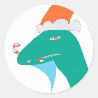 Christmasaurus Classic Round Sticker