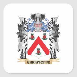 Christoffe Coat of Arms - Family Crest Square Sticker