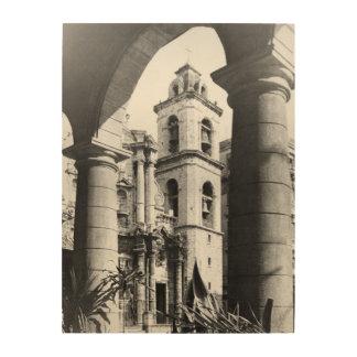 CHRISTOPHER COLUMBUS CATHEDRAL, HAVANA, CUBA WOOD WALL DECOR