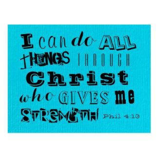 Christ's Strength - Phil 4:13 Postcard