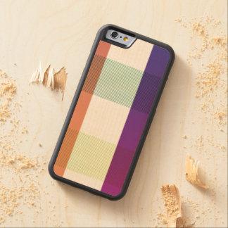 Chromatic Gradient Plaid Detail On Wood Case