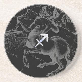Chrome Sagittarius Zodiac Sign Hevelius circa 1690 Coaster