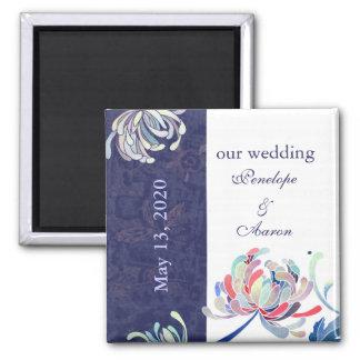 Chrysanthemum Floral Wedding Save the Date Magnet
