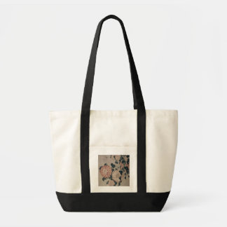 Chrysanthemums (colour woodblock) tote bag
