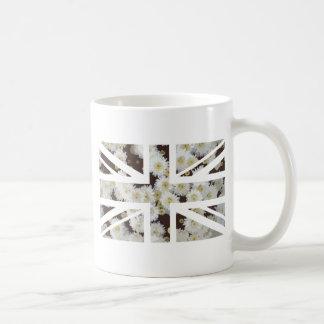 Chrysanthemums Flower Union Jack British(UK) Flag Coffee Mug