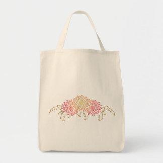 Chrysanthemums Motif Tote Bag