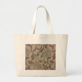 Chrysanthemums -- Silver & Grey Large Tote Bag