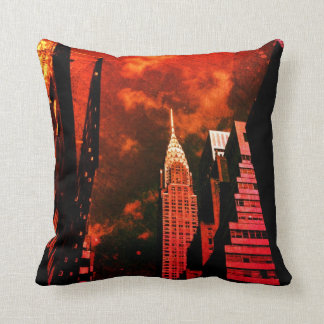Chrysler Building - Distant Past - New York City Cushion