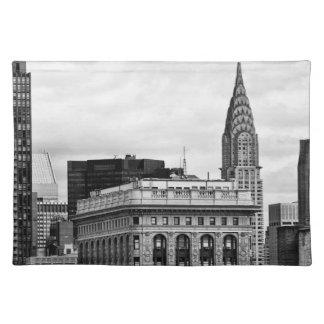 Chrysler Building, Flatiron, Clouds B&W Placemats