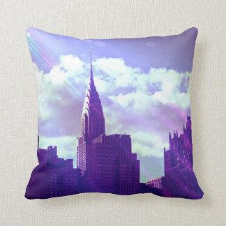 Chrysler Building - Purple - New York Fairy Tale Cushion