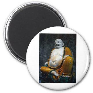 Chubby Buddha 6 Cm Round Magnet
