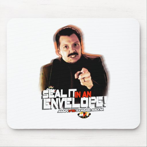 "Chuck Hansen: ""Seal it in an Envelope!"" Mouse Pad"