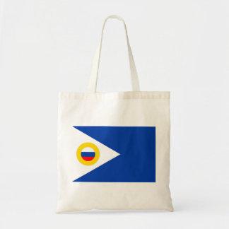 chukotka flag russia country republic region tote bag