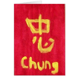 Chung Loyalty notecard