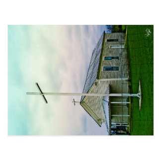 Church and Crosses Hill Country Postcards