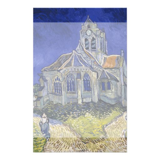 Church in Auvers-sur-Oise by Vincent Van Gogh Custom Flyer