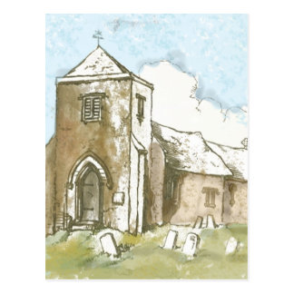 Church in the Country Postcard