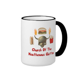 Church Of The Heathenous Glutton Ringer Mug