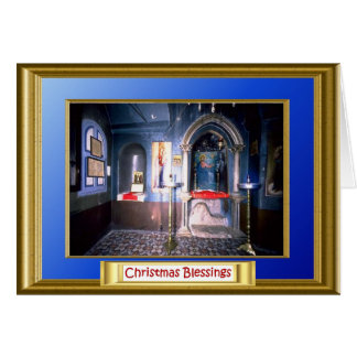 Church on the Mount of temptation Jericho Greeting Card