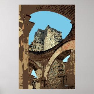 Church Ruins, Antigua, Guatemala Poster