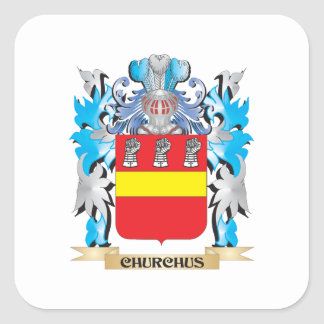 Churchus Coat of Arms - Family Crest Square Sticker