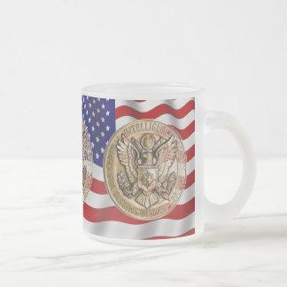 CIA award Frosted Glass Coffee Mug