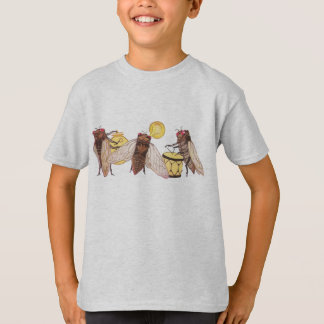 Cicada Band with Gong, Trumpet and Drum T-Shirt
