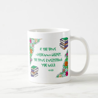 Cicero's quote on libraries coffee mug