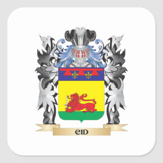 Cid Coat of Arms - Family Crest Square Sticker