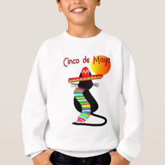 Cinco de mayo CAT Design--Adorable Sweatshirt