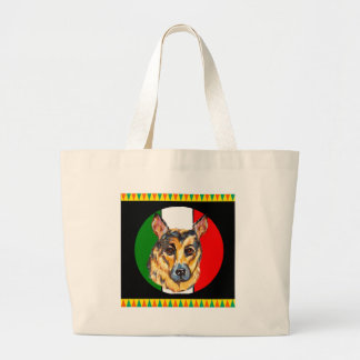 CINCO DE MAYO GERMAN SHEPHERD LARGE TOTE BAG