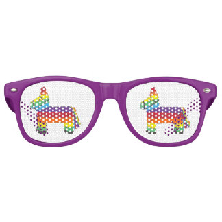 Cinco de Mayo Rainbow Fiesta Birthday Party Pride Retro Sunglasses