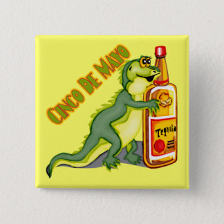 Cinco de Mayo Tequila Lizard Button