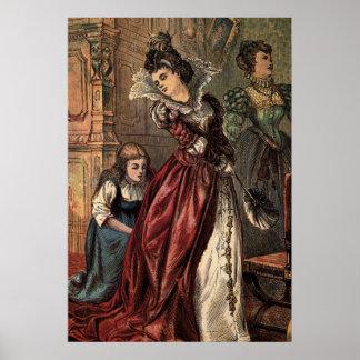 Cinderella Helping her Step-Sisters Poster
