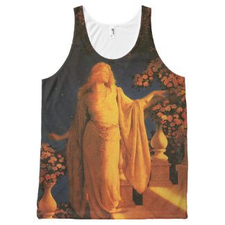 Cinderella Maxfield Parrish Fine Art All-Over Print Tank Top